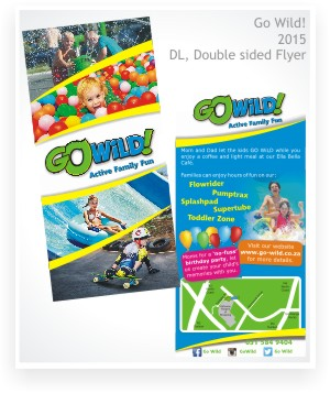 graphic design, Go Wild double sided DL flyer