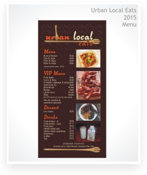 Graphic Design, Menu - Urban Local Eats