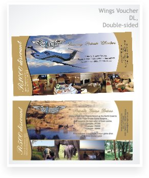 Graphic Design, double sided DL voucher - Wings