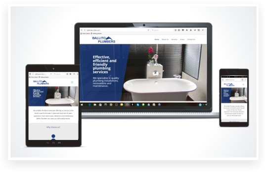 responsive website design, Ballito Plumbers website