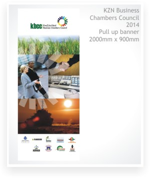 graphic design, pull up banner design, large format design, KZN Business Chambers Council