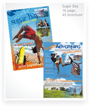 Graphic Design, Sugar Bay booklet brochure, A5