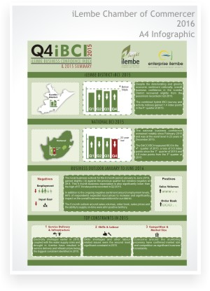 Infographic design - iLembe Chamber of Commerce