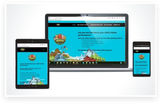 responsive website design, Kungfu Maths website