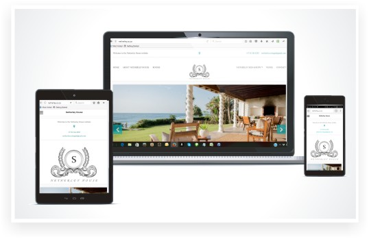 responsive website design, Netherley Accommodation website